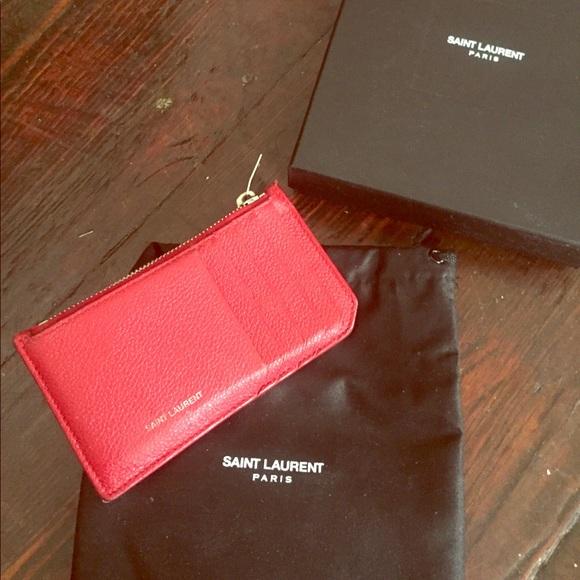 3cd515254a6193 Saint Laurent Card Holder in Red Caviar Leather. M_5b68b10a1b16db13314089fe